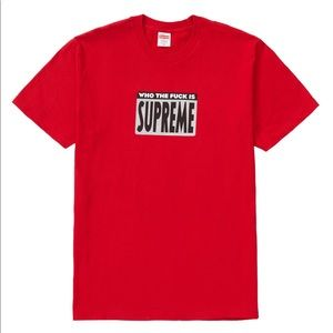 🛑SOLD🛑Supreme 🔥 Who The F Tee Red Medium SS19